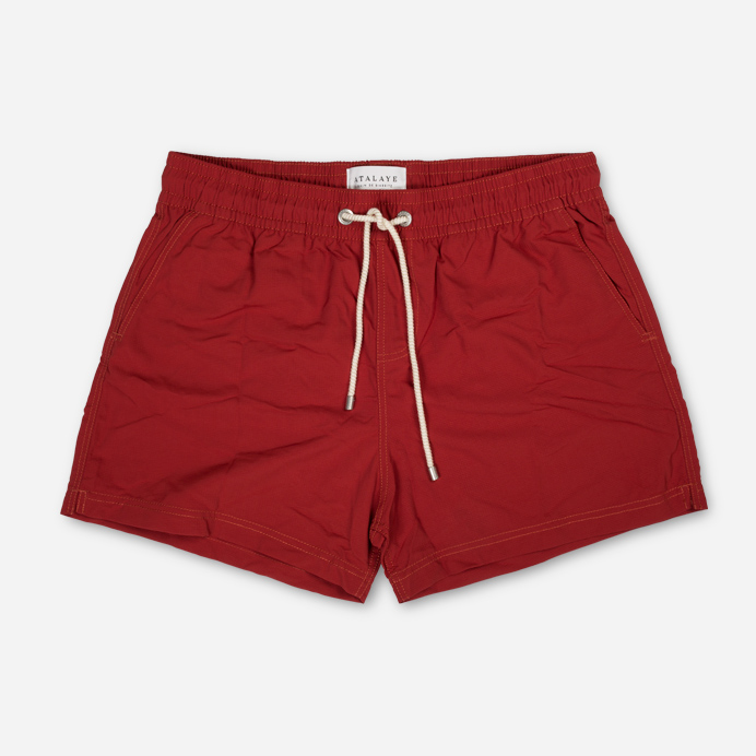 Atalaye Swimshort Frégate Ripstop - Brick red - 1