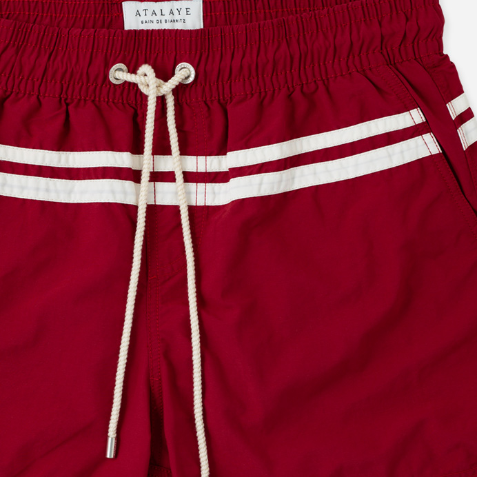 Atalaye Swimshorts Roya - Wine Red - 4